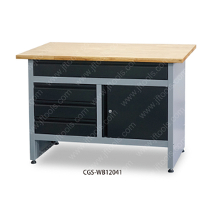 Fold Down Organizer Top Workbench with Door