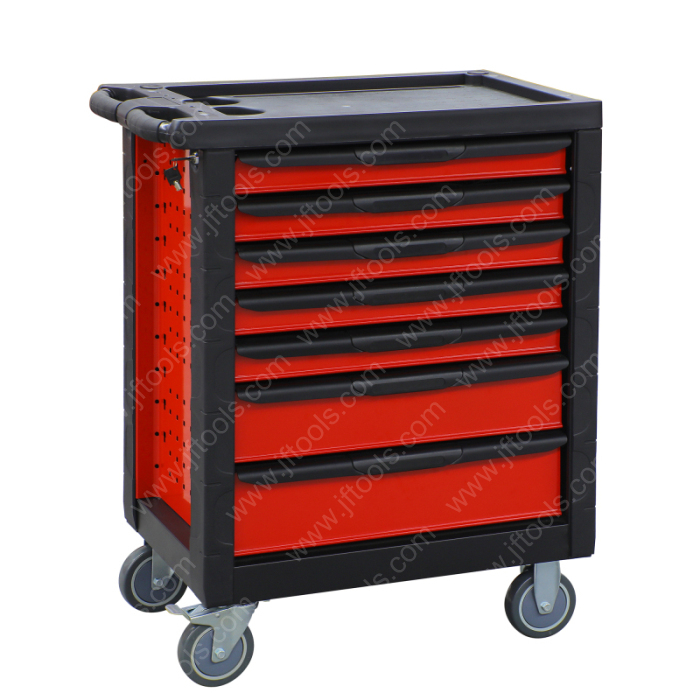Auto Repair 7 Drawer Ball Bearing Lockable Tool Cabinet for Sales